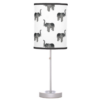 Little Gray Elephant Pattern Desk Lamp