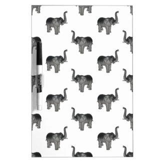 Little Gray Elephant Pattern Dry-Erase Board