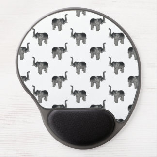 Little Gray Elephant Pattern Gel Mouse Pad