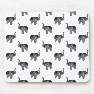 Little Gray Elephant Pattern Mouse Pad