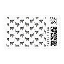 Little Gray Elephant Pattern Postage