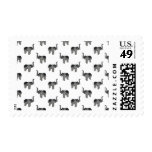 Little Gray Elephant Pattern Postage Stamps
