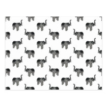 Little Gray Elephant Pattern Postcard