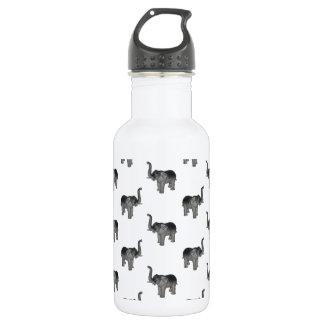 Little Gray Elephant Pattern Stainless Steel Water Bottle