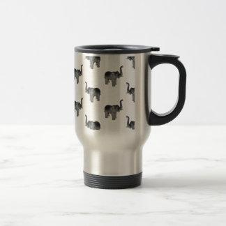 Little Gray Elephant Pattern Travel Mug