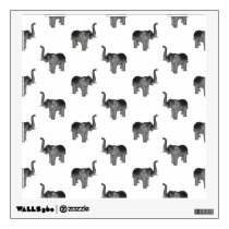 Little Gray Elephant Pattern Wall Decal