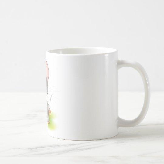 Little gray mouse coffee mug