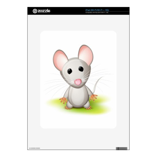 Little gray mouse iPad skin