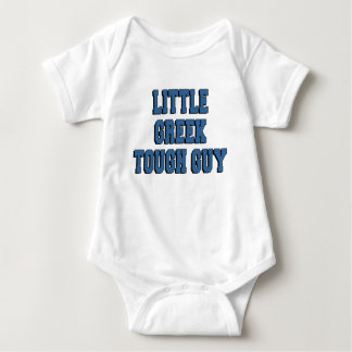 Little Greek Tough Guy Baby Bodysuit