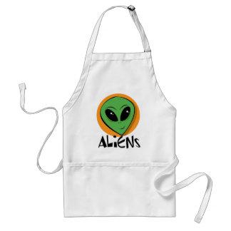 Little Green Alien Adult Apron