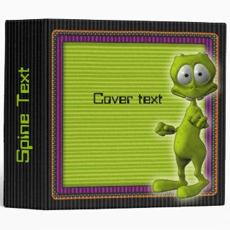 Little Green Alien Binder
