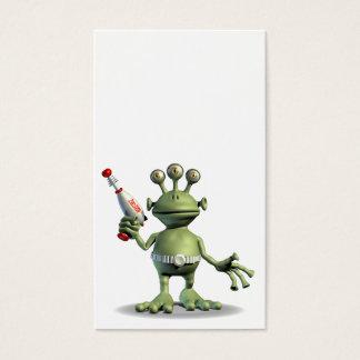 Little Green Alien Business Card