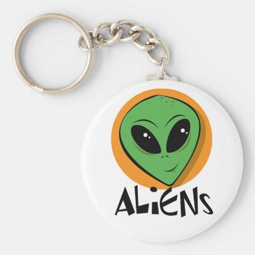 Little Green Alien Key Chains