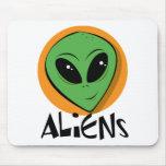 Little Green Alien Mouse Pad