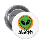Little Green Alien Pinback Button