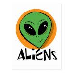 Little Green Alien Postcard
