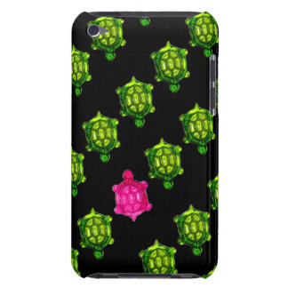 Little Green and Pink Turtle Pattern iPod Touch Case
