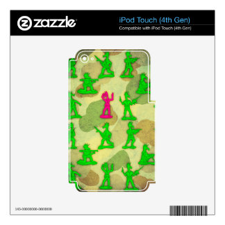 Little Green Army Unicorn Skins For iPod Touch 4G