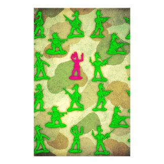 Little Green Army Unicorn Stationery