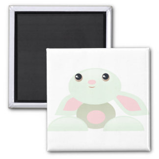 Little Green Baby Bunny 2 Inch Square Magnet