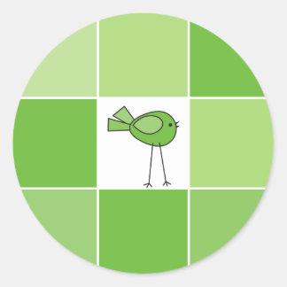 little green bird stickers