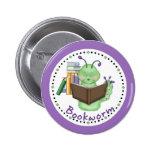 Little Green Bookworm 2 Inch Round Button