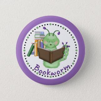 Little Green Bookworm Button