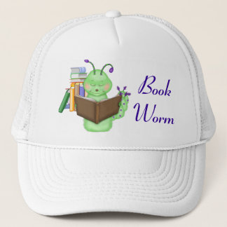 Little Green Bookworm Trucker Hat