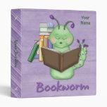 Little Green Bookworm Vinyl Binders