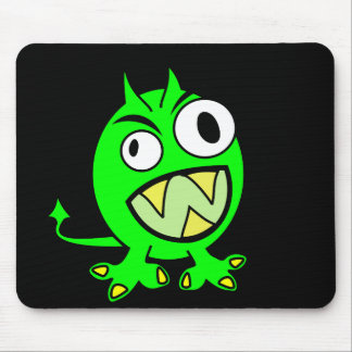 Little Green Devil Mouse Pad