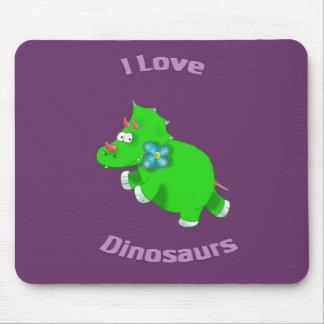 little green dinosaur ( i love dinosaurs) mouse pad
