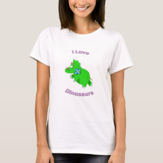 little green dinosaur ( i love dinosaurs) T-Shirt