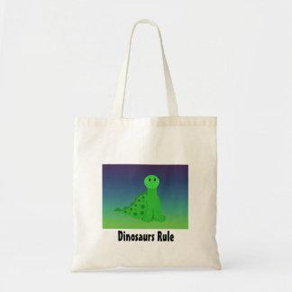 Little Green  Dinosaur Tote Bag