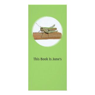 Little Green Grasshopper Cartoon Rack Card