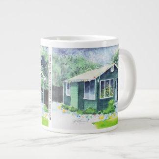 Little Green House at Christmas Jumbo Mug 20 Oz Large Ceramic Coffee Mug
