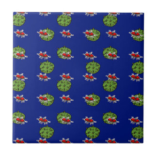 little green men and little green planets tile