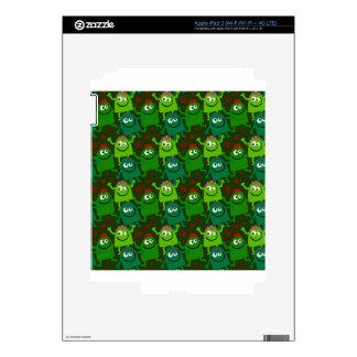 Little Green Men Decals For iPad 3