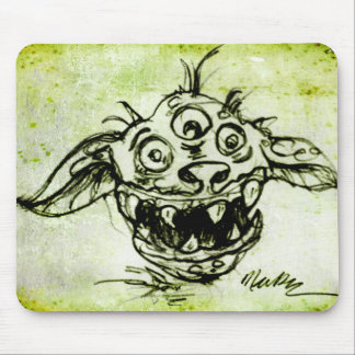 Little Green Monster Sketch Mouse Pads
