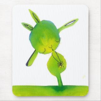 little green munkey munk mouse pad