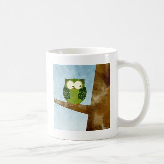 Little Green Owl Coffee Mug