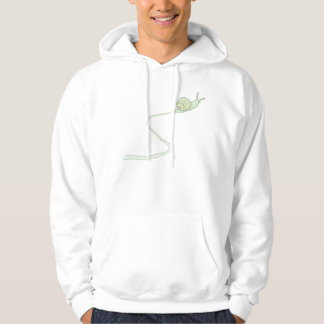 Little Green Snail Trail hoodie hooded sweatshirt