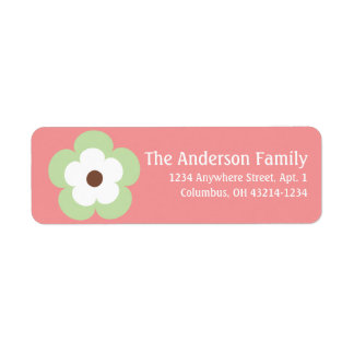Little Green Spring Season Flower Address Labels