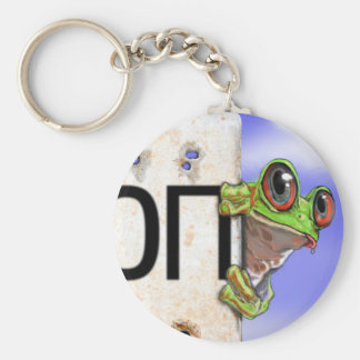 Little Green Tree Frog Keychain
