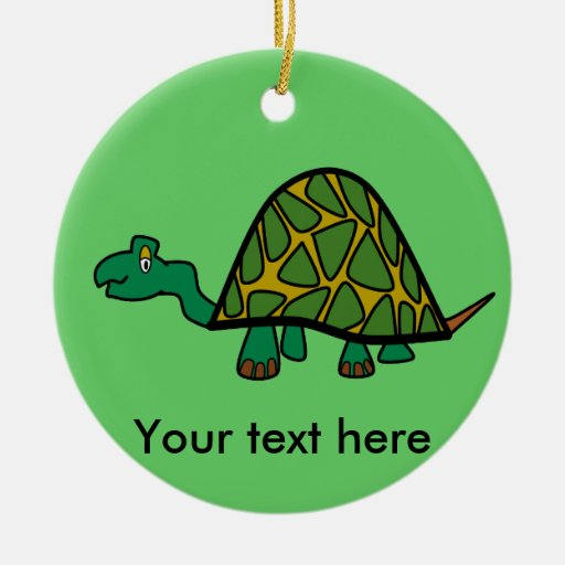 Little green turtle ornament