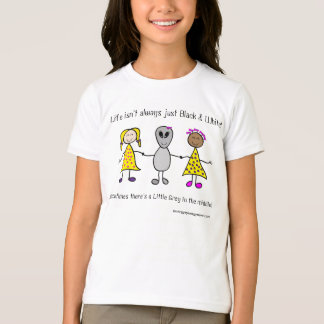 Little Grey Girls Ringer T-Shirt