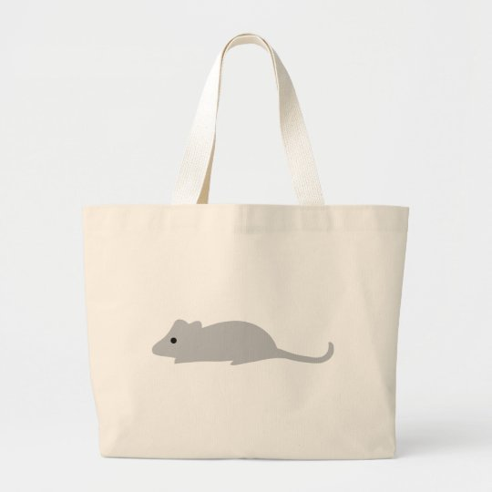 little grey mouse large tote bag