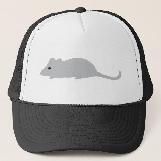 little grey mouse trucker hat