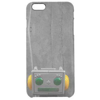 Little Grey Robot | Clear iPhone 6 Plus Case