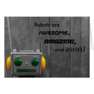 Little Grey Robot | Greeting Card