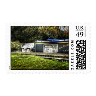 Little Guard Dog on Narrowboat postage stamps